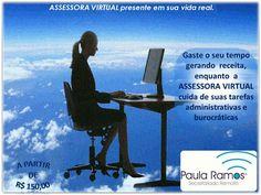 A Assessora Virtual - SRTE 12.131 irá melhorar sua relação com os clientes, eliminando tarefas que consomem tempo. Curta e compartilhe, obrigada.ACESSEhttp://www.paulasecretariadoremoto.com/