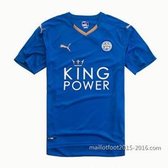 1ème maillot de foot Leicester City 2016