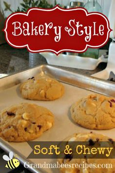 Bakery Style, Soft & Chewy Cookies