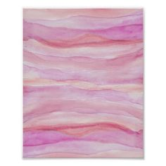 Abstract Watercolor Pink Layers Agate Stripes Poster - girly gifts special unique gift idea custom