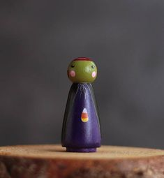 Witch Peg Doll Halloween Cake Topper Witch Figurine