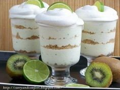 Key lime mini triffles