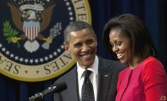 Michelle and Barack Obama :)