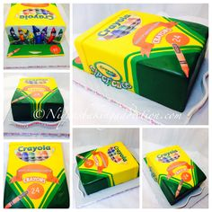 Just Add A 0 On This And I Would Have Years Perfect Birthday Cake See More Crayola Crayon Box