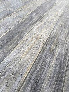 gray concrete floor that looks like washed wood- bathroom flooring. Basement Flooring, Basement Remodeling, Porch Flooring, Flooring Ideas, Bathroom Flooring, Kitchen Flooring, Penny Flooring, Ceramic Flooring, White Flooring