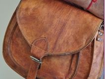 #Vintage Look #Handmade #Goat #Leather #Messenger #bag  Vintage Look #Handmade #Goat Leather #Messenger bag - #Vintage #Bag #Bazaar.  #Beautiful Art Real Leather Shoulder Carry Bag  Very Soft Leather  Adjustable shoulder strap.  One Front Pocket and flap with buckle.  Brushed with mustard oil for long life and durability  Not Artificially colored.  Hand Stitched  Buy now from: http://de.dawanda.com/product/77895331-Vintage-Look-Handmade-Goat-Leather-Messenger-bag