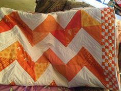 Quilt for my son for college - UT Vol's all the way!