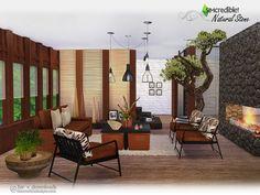 Natural Stone livingroom by SIMcredible at TSR via Sims 4 Updates