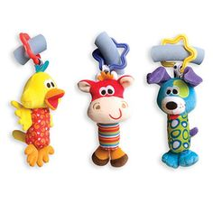 Baby Kids Rattle Toys Tinkle Hand Bell Multifunctional Plush Stroller Hanging Animal Rattles Kawaii Baby Infant Toy Gifts - Kid Shop Global - Kids & Baby Shop Online - baby & kids clothing, toys for baby & kid Baby Toys, Newborn Toys, Pet Toys, Kids Toys, Baby Newborn, Toddler Toys, Pato Animal, Baby Shop Online, Developmental Toys