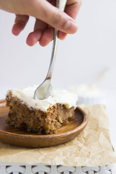 The moistest, bestest carrot cake recipe with a luscious cream cheese frosting.