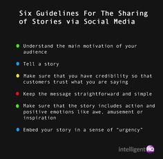 Guide to Social Media and Storytelling Part 2
