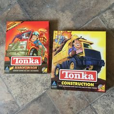 """Vintage HASBRO """"Tonka"""" Computer Game/gift/search and rescue/construction Computer Games For Kids, Video Games For Kids, Gaming Computer, Interactive Learning, Learning Games, Childhood Days, Search And Rescue, Child Life, 90s Kids"""