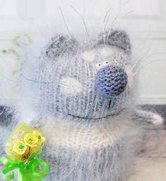 PURRFECTO KITTY  AMIGURUMI Cat Kitty  Knit by MiracleStoreUS