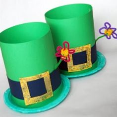 Easy Leprechaun Hats were one of our top St. Patrick's Day crafts for kids last year! So simple, and so cute!