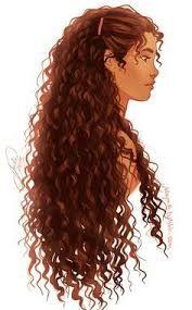 Resultado de imagem para desenhos de cabelo ondulado