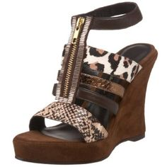 Beverly Feldman Women's Fired-Up Platform Sandal,Brown Multi,9 M US