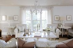 pretty room - love the chandelier!