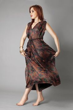 Stunning maxi dress, perfect for summer.#sustainablefashion