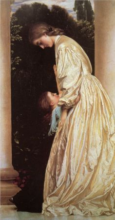 Sisters - Lord Frederick Leighton. impressively realistic texture on the dress.
