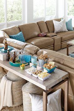 La Z Boy Aspen Seven Piece Power Reclining Sectional Sofa