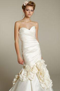Bridal Gowns: Lazaro Mermaid Wedding Dress with Sweetheart Neckline and Asymmetric Waist Waistline