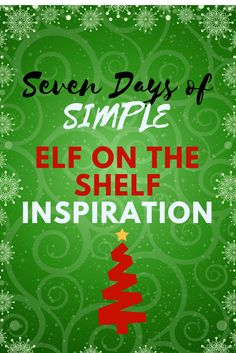 A Week of Simple Elf on the Shelf Inspiration! The Elf, Elf On The Shelf, Christmas Traditions, Christmas Presents, Shelf Inspiration, Family Christmas, Christmas Ideas, Shelves, Shelf Ideas