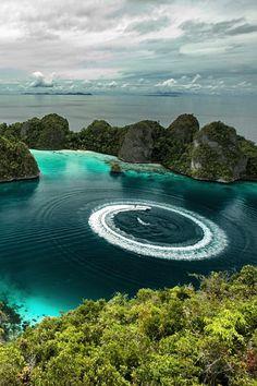 God's masterful nature - Raja Ampat Islands, #Indonesia #peaceful #سبحان_الله