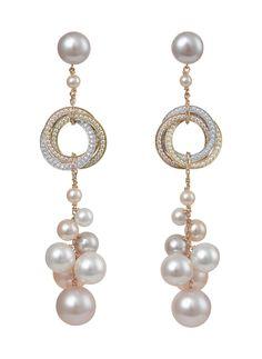 Trinity de Cartier s'habille de perles : bagues trois ors avec perles