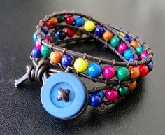 DIY Beaded Leather Wrap Bracelet DIY Jewelry DIY Bracelet