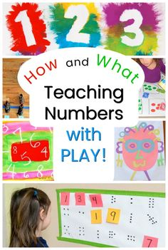 There are 3 steps for teaching numbers to preschoolers. Here they are! And also fun number activities to teach those skills through play too! #howweelearn #math #counting #preschoolactivities #teacher #teachersfollowteachers #preschool