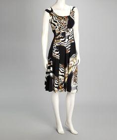 Quiz dresses black and white zebra