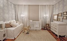 Gold and white nursery