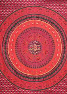 100% cotton handloom red bird paradise mandala indian tapestry #thiscounts  #home #decor #homedecor #tapestry