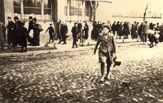 Bedzin, Poland, April 1941, Jews deported from Oswiecim arrive at Bedzin ghetto.