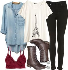 Allison inspired... From Teen Wolf. My favorite part is the Paris t-shirt and the boots