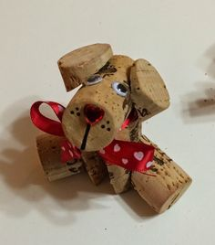 Kathy's Art Project Ideas: Corky - The Wine Cork Doggy DIYYou can find Wine cork art and more on our website.Kathy's Art Project Ideas: Corky - The Wine Cork Doggy DIY Wine Craft, Wine Cork Crafts, Wine Bottle Crafts, Wine Bottles, Crafts With Corks, Champagne Cork Crafts, Diy Crafts, Wooden Crafts, Creative Crafts