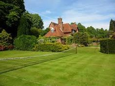 Home tennis court. Grass, Golf Courses, Most Beautiful, Feels, Around The Worlds, Places, Modern, Summer, Trendy Tree