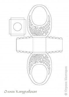 Мастер-класс Упаковка Пасха Вырезание Пасхальные корзинки Бумага фото 29
