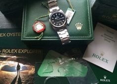 Rolex Explorer with box and papers fantastic condition cult watch - Fine Watches, Rolex Watches, Rolex Explorer, Pre Owned Watches, Rolex Submariner, Wood Watch, Box, Accessories, Clocks