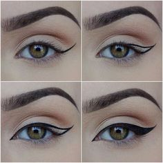 """Paulina  on Instagram: """"〰 How i do my liner 〰 I use @zoevacosmetics 315 fine liner and any gel liner with 1 drop of @inglot_cosmetics Duraline…"""""""