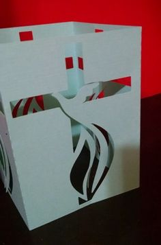 DIY Dove and Cross luminary centerpiece by hilemanhouse on Etsy