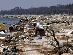 Mississippi Gulf Coast after Hurricane Katrina. I refuse to watch the Today Show to this day because they acted like New Orleans was the only devastation there was.