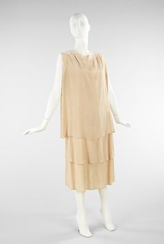 Dress  Madeleine Vionnet (French, Chilleurs-aux-Bois 1876–1975 Paris)  Date: ca. 1927 Culture: French Medium: silk