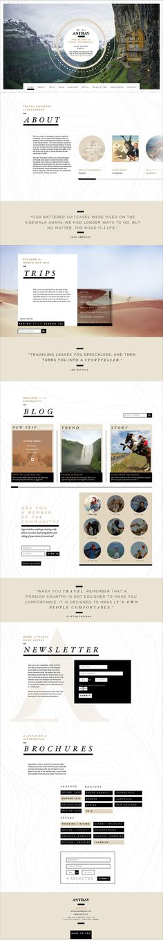 Astray Travel Co : Branding, Website & App by Rebecca Williams, via Behance…