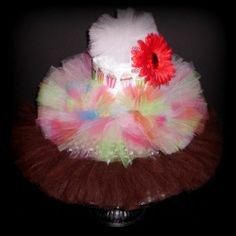 Only A Penny?  Newborn TUTU Baby Shower Gift Diaper Cake Princess Pink Brown Outfit Photo Prop