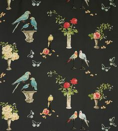 Nina Campbell for Osborne and Little Perroquet by TheDraperyGal Osborne And Little Wallpaper, Aqua Wallpaper, Mirrored Wallpaper, Chinoiserie Wallpaper, Kitchen Wallpaper, Wallpaper Ideas, Wall Patterns, Textures Patterns, Print Patterns