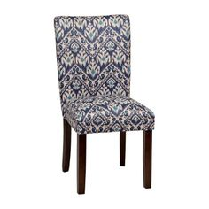 Angela Indigo Ikat Dining Chair