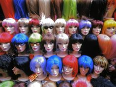 Wigs - NYC - Life in Color: Kaleidoscope, Kaleidoscope Pictures -- National Geographic