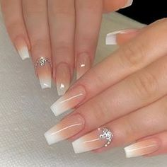 What manicure for what kind of nails? - My Nails Cute Acrylic Nail Designs, Ombre Nail Designs, Gem Nails, Pink Nails, Glitter Nails, Sparkle Nails, Summer Acrylic Nails, Best Acrylic Nails, Summer Nails