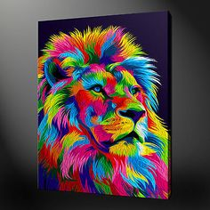 ABSTRACT LION CANVAS PICTURE PRINT WALL ART FREE FAST DELIVERY | Canvas/Giclee Prints | Art - Zeppy.io